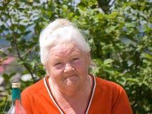 Elderly woman 2 stock images