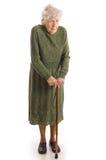 The elderly woman stock photos