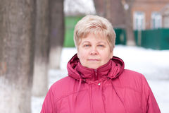 An elderly woman royalty free stock photography