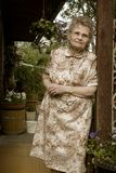 Elderly woman. Portrait of the elderly woman outdoors Royalty Free Stock Image