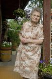 Elderly woman. Portrait of the elderly woman outdoors Stock Images