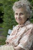 Elderly woman. Portrait of the elderly woman outdoors Stock Photo