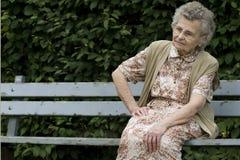 Elderly woman. Portrait of the elderly woman outdoors Stock Photos