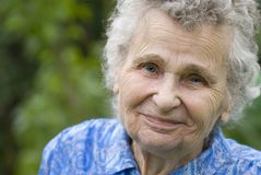 Elderly woman. Portrait of the elderly woman Stock Photos