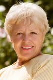 The elderly woman Stock Photography