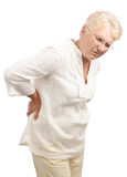 Elderly woman back pain Stock Photography