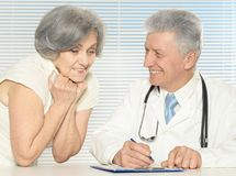 Elderly woman came Stock Images