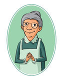 Elderly woman characters Royalty Free Stock Photography