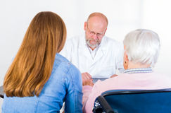 Elderly woman at the doctor Stock Photography