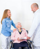 Elderly woman at the doctor Stock Photo