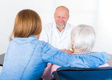 Elderly woman at the doctor Royalty Free Stock Photo