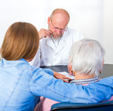 Elderly woman at the doctor Royalty Free Stock Image