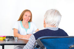 Elderly woman at the doctor Royalty Free Stock Photography