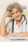 Elderly woman doctor Stock Photo