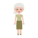 Elderly woman dressed with glasses Royalty Free Stock Image