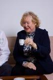 Elderly woman Stock Images