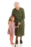 Elderly woman with the granddaughter Royalty Free Stock Photo