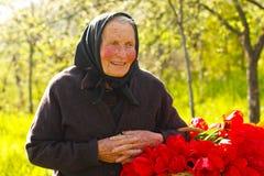 Elderly woman happy Royalty Free Stock Photos