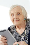 Elderly woman with happy face Royalty Free Stock Image