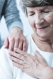 Elderly woman having support Royalty Free Stock Images