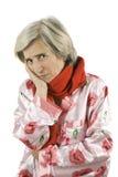 Elderly woman having toothache Stock Photos