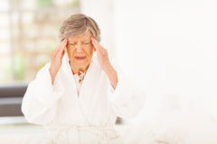 Elderly woman headache Royalty Free Stock Photo