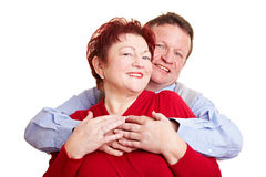 Elderly woman and her husband Royalty Free Stock Photos
