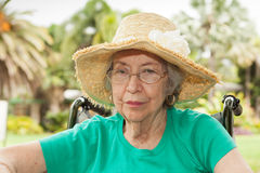 Elderly Woman Outdoors Royalty Free Stock Photography