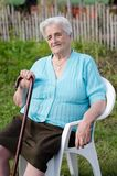 Elderly woman. Outdoors Stock Photos