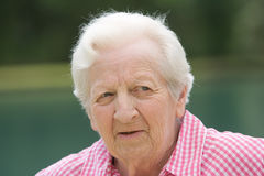 Elderly Woman Outside Stock Image