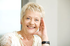 Elderly woman outside Royalty Free Stock Image