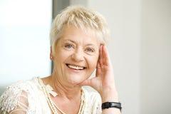 Elderly woman outside royalty free stock image