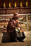 An Elderly Woman of The Palkhor Monastery Gyantse Tibet Stock Image