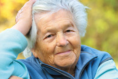 Elderly woman - portrait royalty free stock image