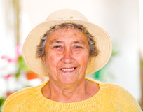 Elderly woman stock photo