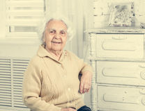 Elderly woman portrait Royalty Free Stock Photography