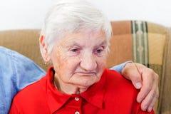 Elderly woman Stock Image