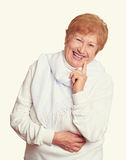 Elderly woman portrait Royalty Free Stock Images