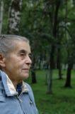Elderly woman profile Stock Photos