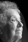 Elderly Woman Profile Royalty Free Stock Photos