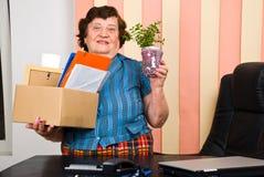 Elderly woman retire Royalty Free Stock Photo