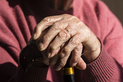 Elderly Woman's Hands Royalty Free Stock Photo