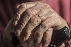 Elderly Woman's Hands Royalty Free Stock Photography