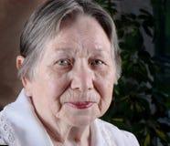 Elderly woman's portrait Stock Photo