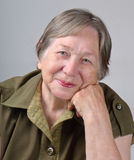 Elderly woman's portrait Royalty Free Stock Image