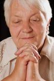 Elderly woman's portrait Stock Image