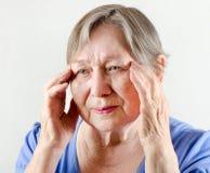 Elderly woman's portrait Royalty Free Stock Photography