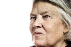 Elderly woman's portrait Stock Images