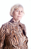 Elderly woman's portrait - isolated Royalty Free Stock Image