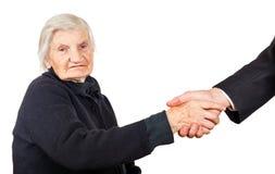 Elderly woman Royalty Free Stock Photo